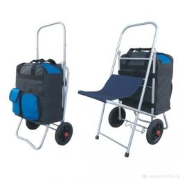 Хозяйственная сумка-тележка со стульчиком Подружка-5